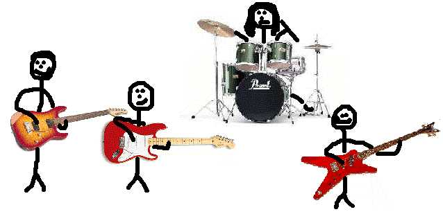 Clickable Imagemap of a drawing of the band